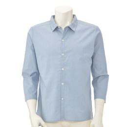 Relaxy デニム調ストレッチ8分袖シャツ「メンズ用」
