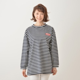 PERSONS ラバーロゴボーダーTシャツ