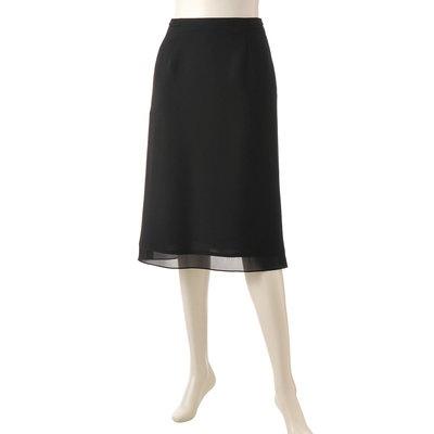 前後2ダーツのAライン。裾はオーガンジーで切り替えた、クチュールスカートです。
