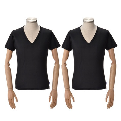 独自の技術で高い放熱性を実現した、アイスタッチスーパークールのメンズシャツ。