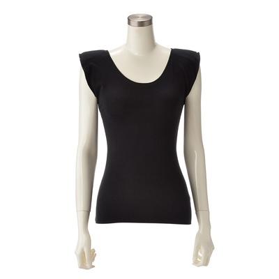 なで肩の方には補整下着として、そうでない方は、肩パットを取り外して着用できます。