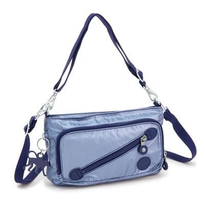 前面にお財布機能を備えた、コンパクトながらも収納力のあるショルダーバッグです。