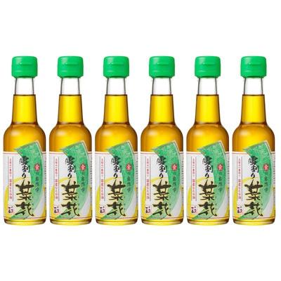 秋田県産の菜種を丁寧に搾り、上澄みだけをろ過した、無添加のなたね油です。