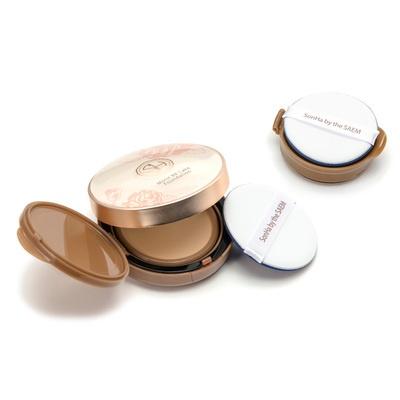 お肌の上に塗り圧力を与えながらのばすと、美容液が雫のように出てくるテクスチャー。