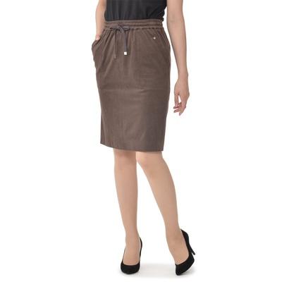 ストレッチ素材を使った、穿き心地のラクなプルオンタイプの、タイトめスカート。