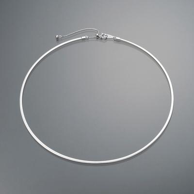 ホワイト面とイエロー面のリバーシブル。美しいラインのオメガネックレスです。