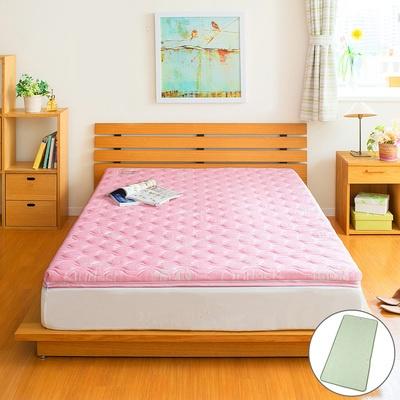 一枚で敷布団としても、お使いの寝具に重ねても使える敷きパッドタイプのマットレス。