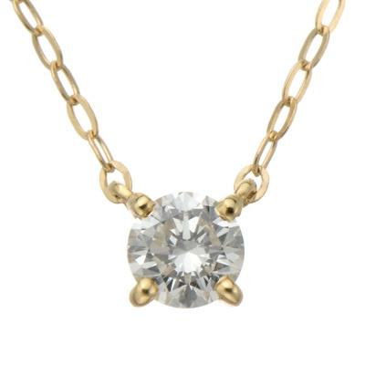 透明度の高いロシアンダイヤモンドの煌きが映える、シンプルなネックレスです。