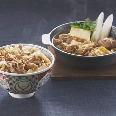 吉野家の牛丼6食・牛すき4食セット
