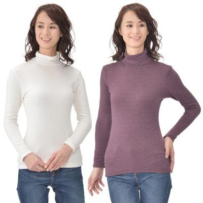 吸湿発熱加工の生地を使用したシャツ。空気の層が溜めこまれて、ほかほかの着心地に。