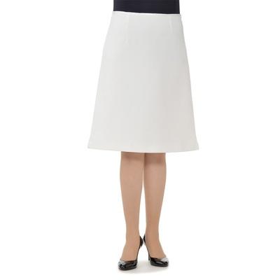 NbyA サテンアクセントジャガードトラペーズスカート