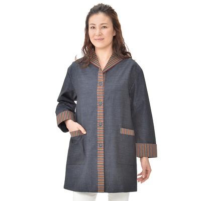 三河木綿羽織ロングジャケット