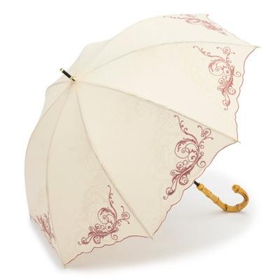 ルナ・ジュメール 晴雨兼用オリエンタル刺繍柄ショート傘
