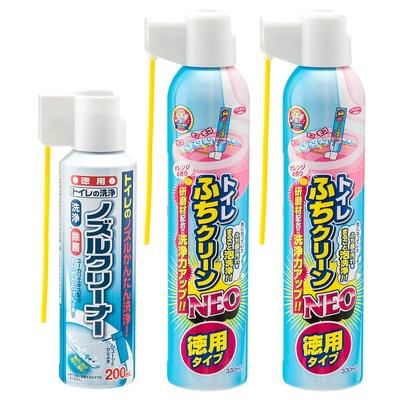 泡で洗浄!トイレふちクリーン2本+ノズルクリーナーセット - 639559