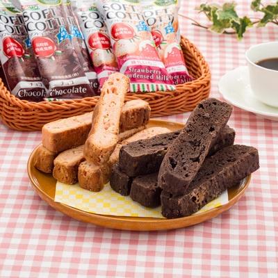 ソフトコッティー鉄分入チョコ&カルシウム入練乳イチゴ計18本
