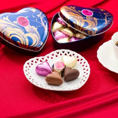 マルキーズ・ドゥ・セヴィニエ ハート缶チョコレート10個×2缶