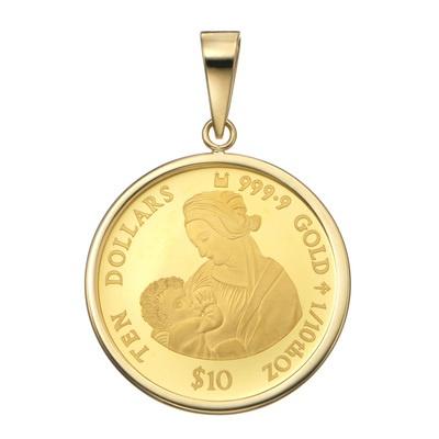 24K/18K コインペンダントヘッド 「リッタの聖母」1/10oz - 651266