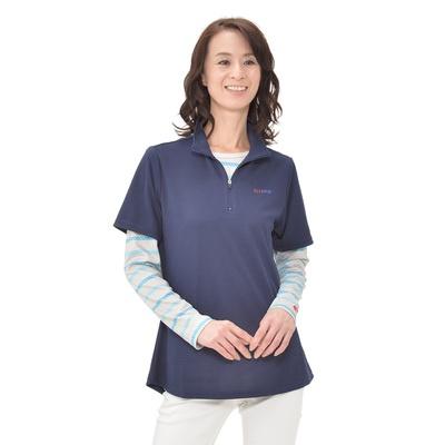 ELLE SPORT UVハーフジップレイヤードシャツ - 651336