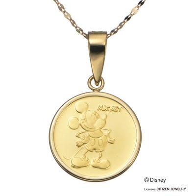 24K/18K ミッキーマウス&ミニーマウス メダル ペンダント - 651444