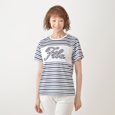 FILA UV チェーンロゴプリントTシャツ - 653389