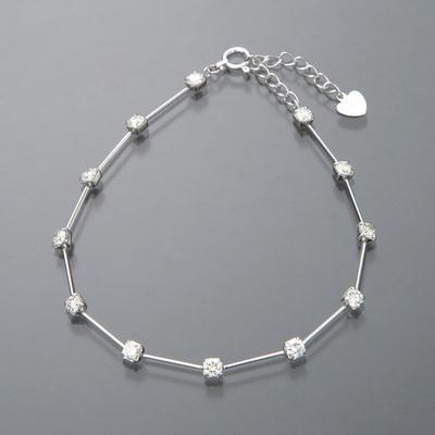 18KWG ロシアンダイヤモンド ラインブレスレット計1.00ctUP - 656818