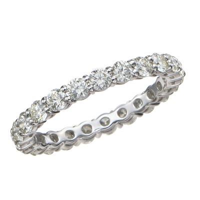 PT950 ロシアンダイヤモンド フルエタニティリング - 660099