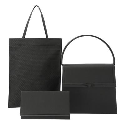 東京ソワール 袱紗付きブラックフォーマルバッグセット