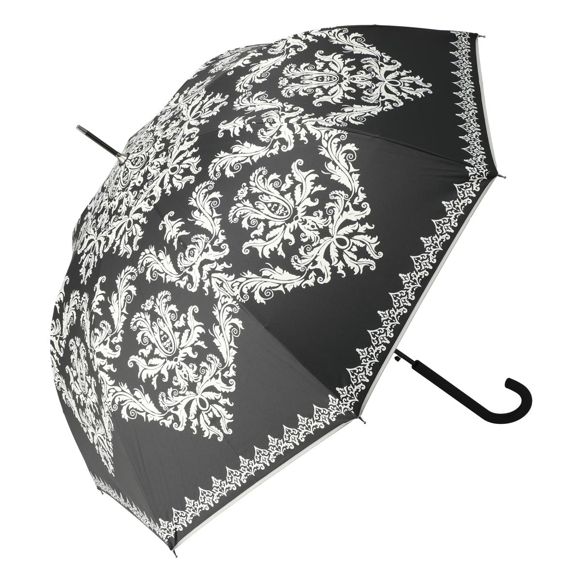 ルナジュメール UV+1級遮光+晴雨兼用 ダマスク柄長傘