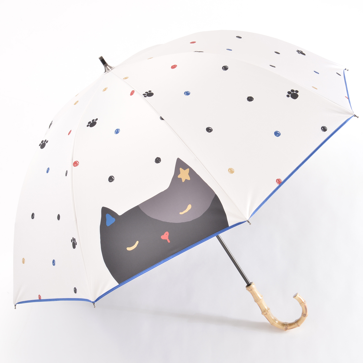 ルナジュメールUV1級遮光+晴雨兼用大きい猫ショート傘