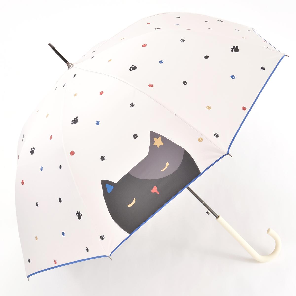 ルナジュメール UV+1級遮光+晴雨兼用大きい猫長傘