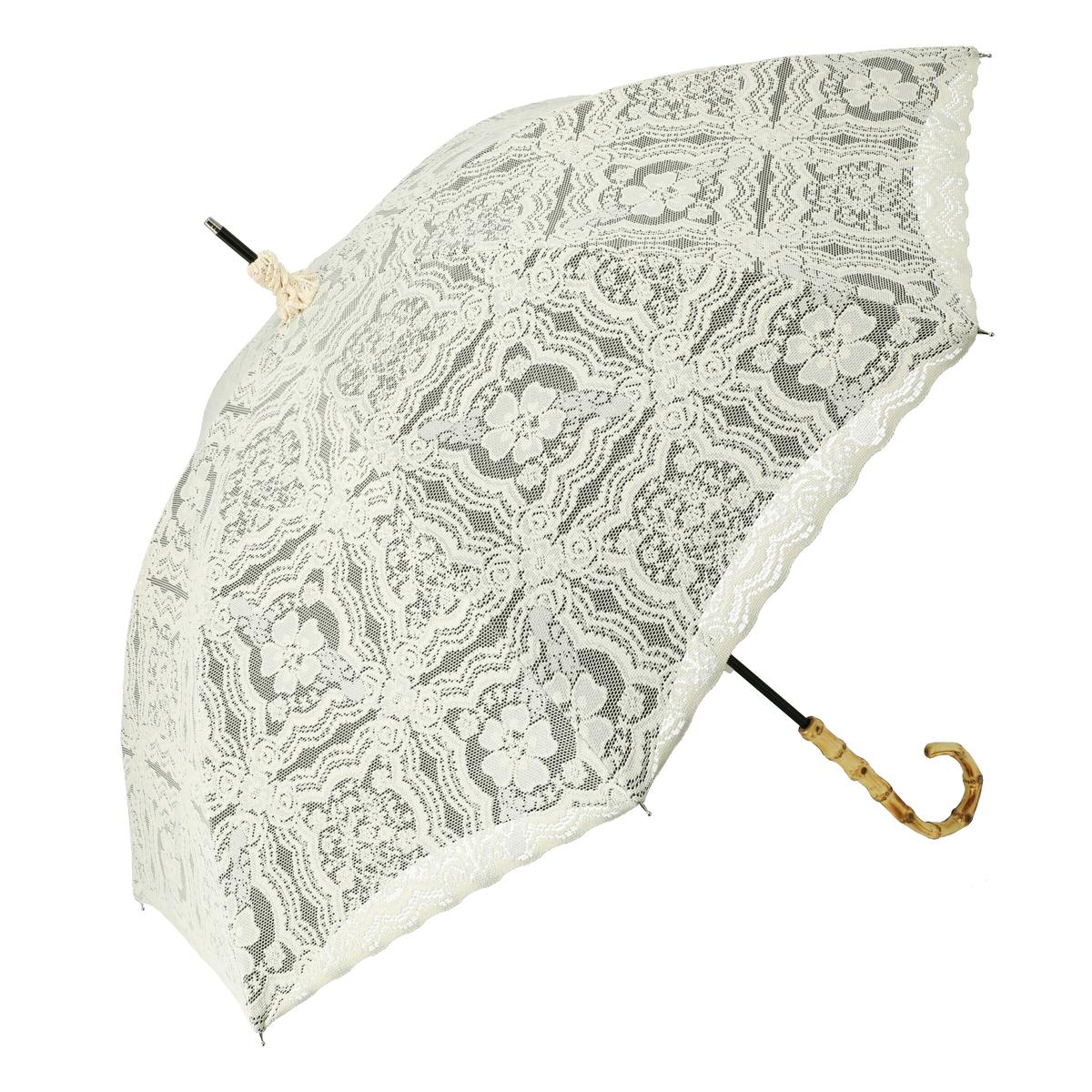 ルナジュメール UV+1級遮光+晴雨兼用2重レースPW長傘
