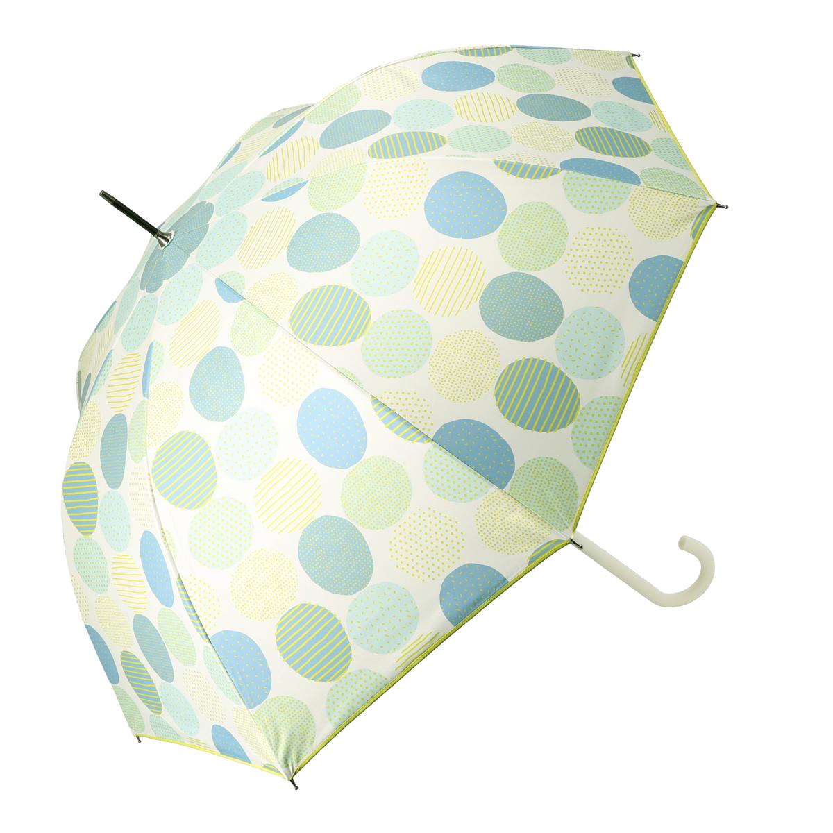 ルナジュメール UV+1級遮光+晴雨兼用キカドット柄長傘