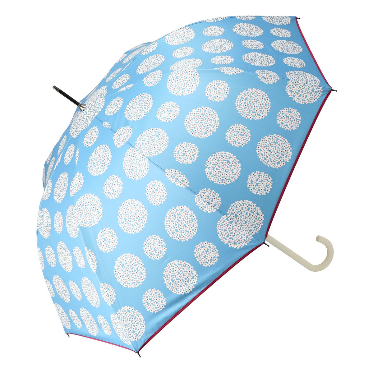 ルナジュメール UV+1級遮光+晴雨兼用 サークル花長傘