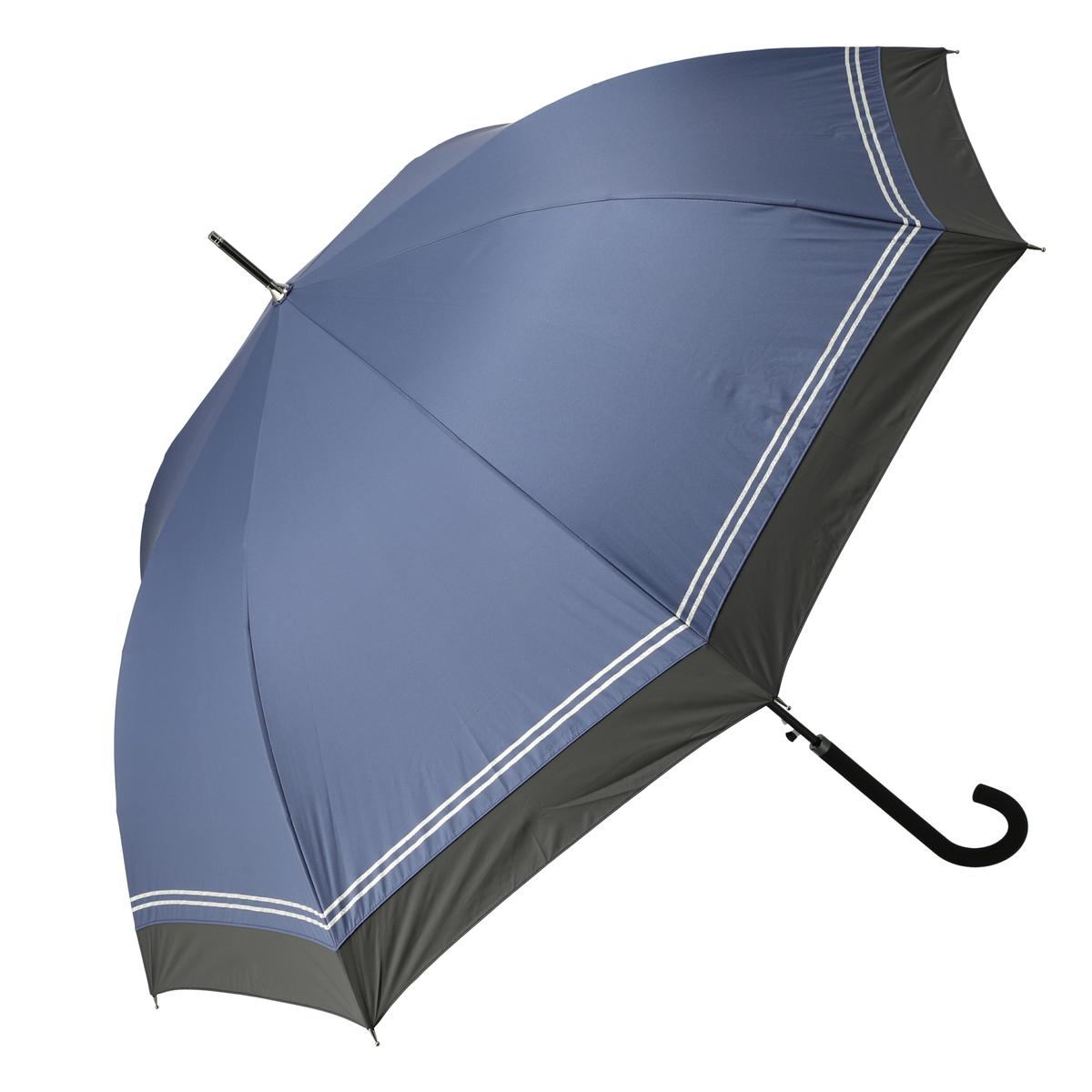 ルナジュメールUV1級遮光+耐風+強力撥水ラメライン長傘