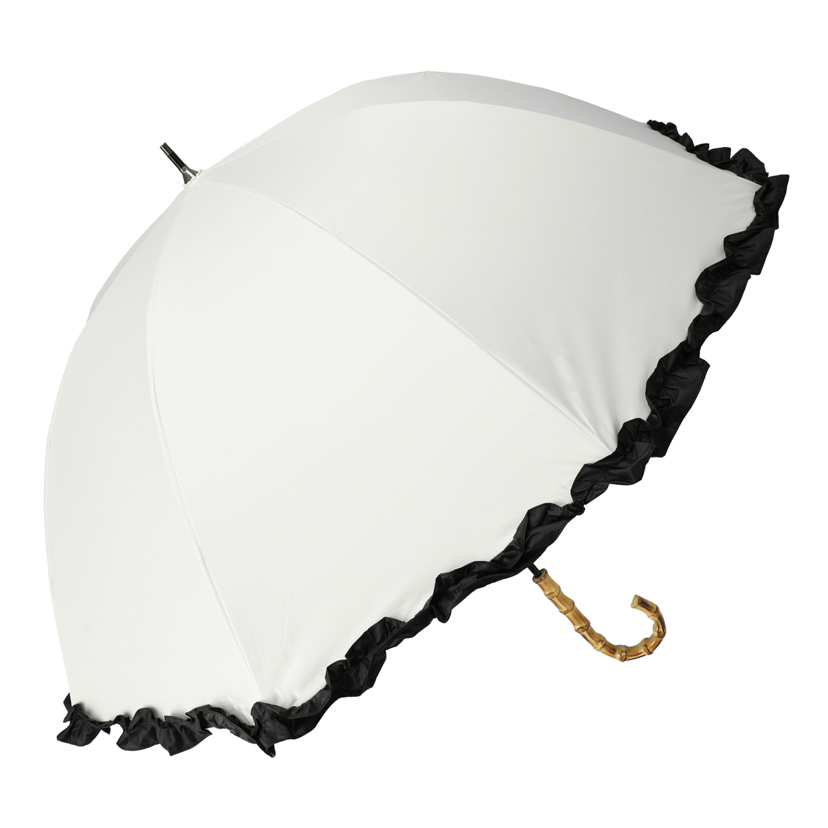 ルナジュメール UV+1級遮光+晴雨兼用 フリルショート傘