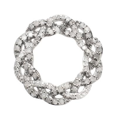 SS アイスダイヤモンド&ダイヤモンド編込みペンダントヘッド