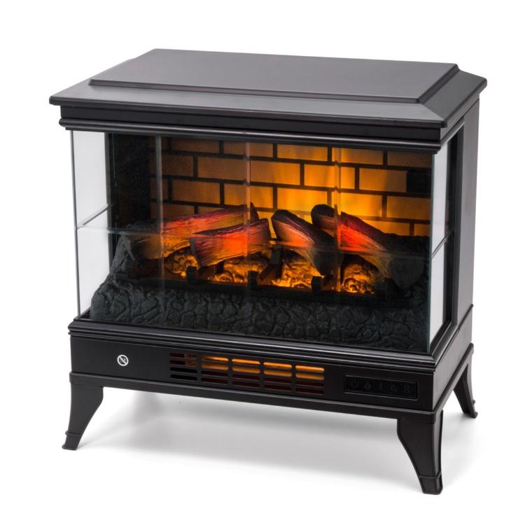 癒される炎 パワーヒート 暖炉型ファンヒーターガラスタイプ