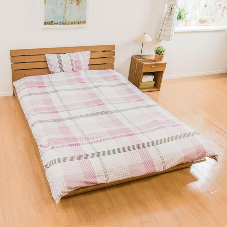 apricasa チェックが可愛い寝具カバーセット