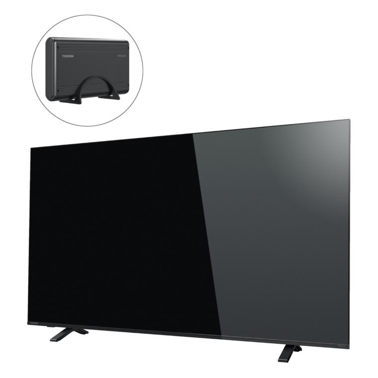 東芝4Kチューナー内蔵液晶TVレグザ55型+外付けHD
