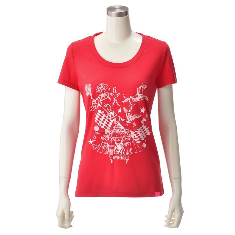KiKKi サーカステントプリントTシャツ