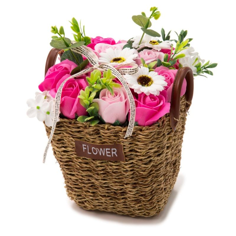 QVCジャパンお花のカタチのギフト フレグランスフラワーバスケット