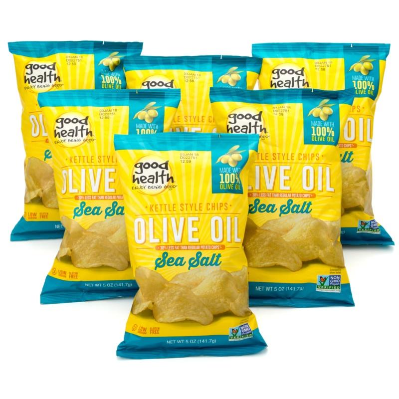 グッドヘルス オリーブオイルポテトチップス「シーソルト」6袋