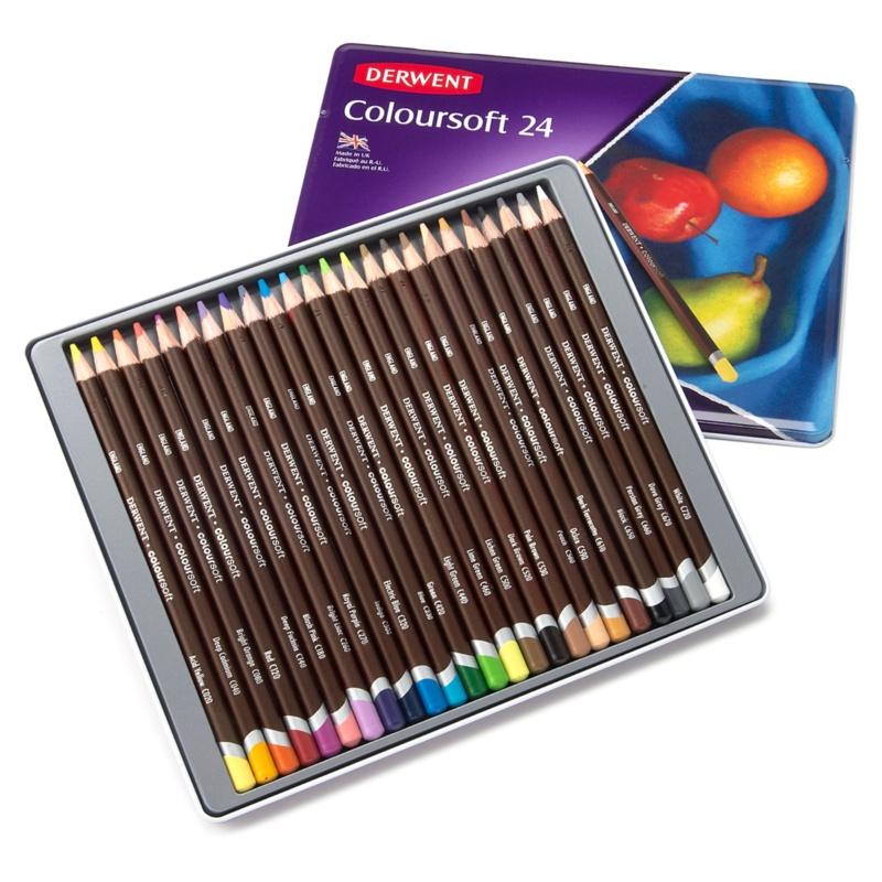 ダーウェント カラーソフト メタルケース24色セット