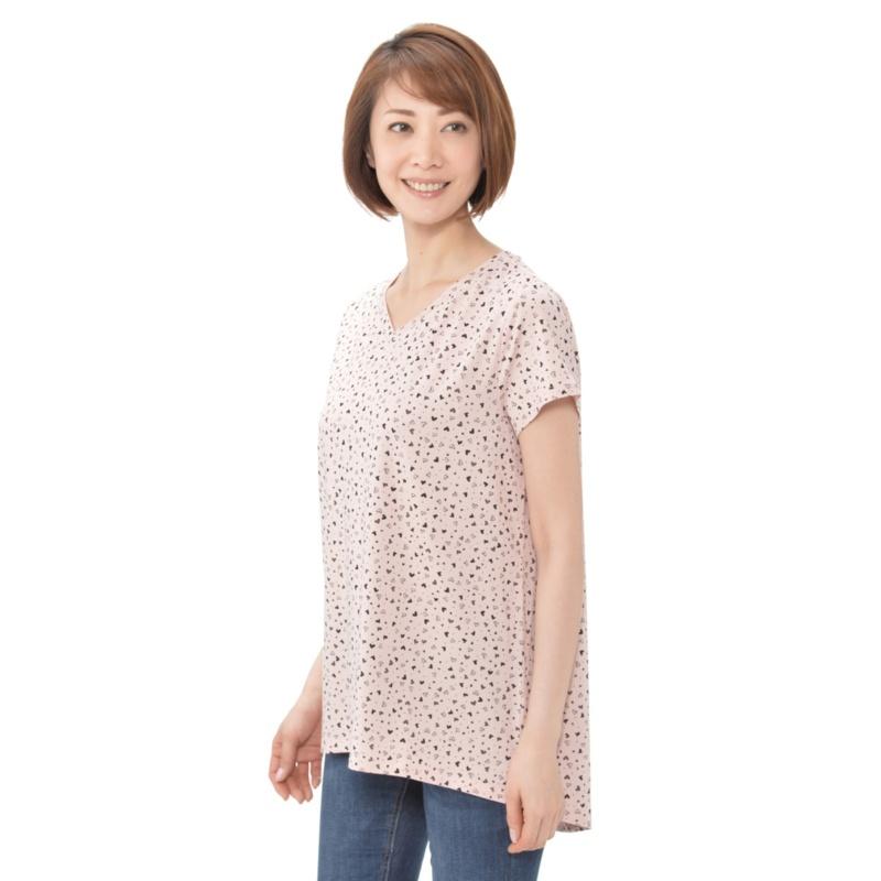 AnyBody バックスリット半袖Tシャツ