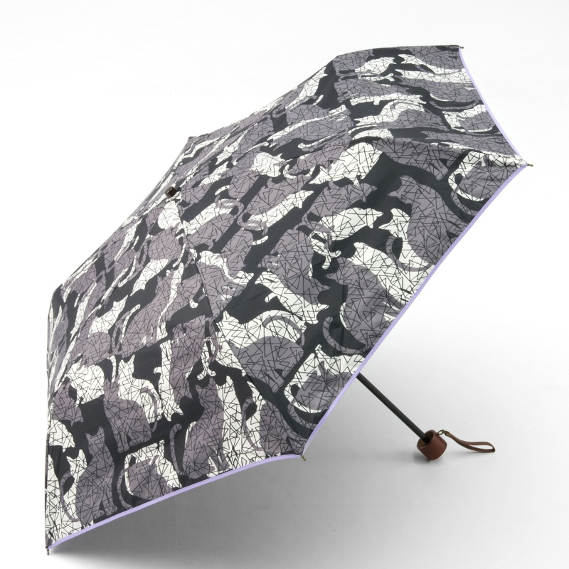 ルナ・ジュメール UVカット晴雨兼用バロック&キャット折畳傘