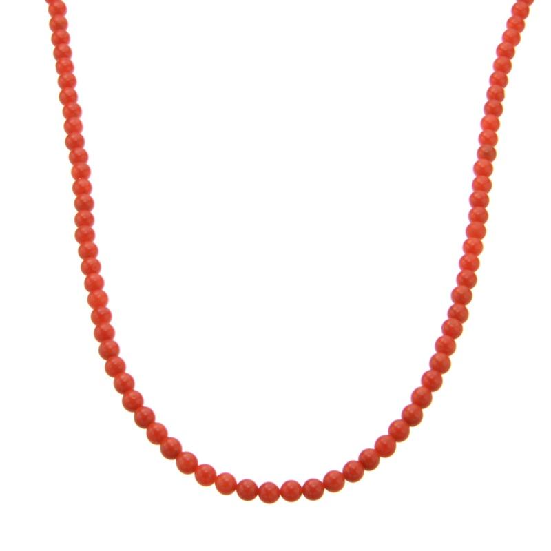 胡渡珊瑚 ロング ネックレス