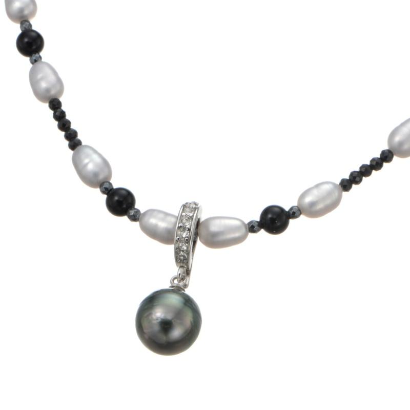 黒蝶真珠 デザイン ネックレス