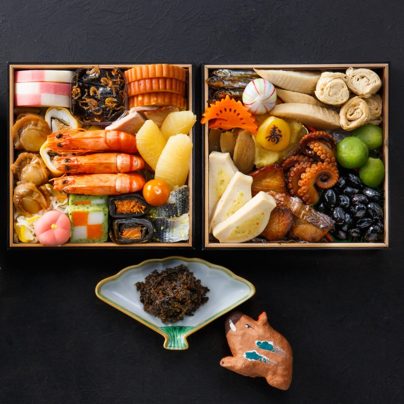 京のおせち二段重[27種]【亥】宇治茶佃煮付