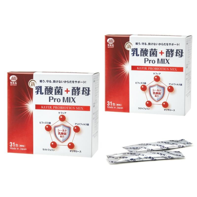乳酸菌+酵母 Pro MIX〔31包x2箱〕