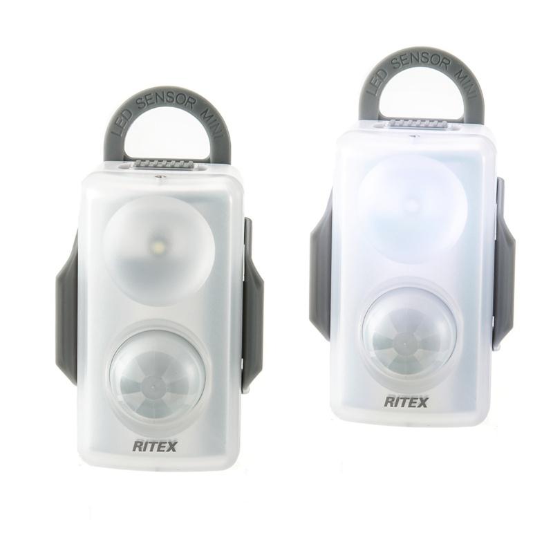 手のひらサイズ!LED超ミニセンサーライト 同色2点セット